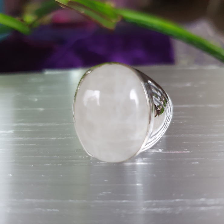 Ring Rainbow Moonstone Size 10.25 | Carpe Diem with Remi