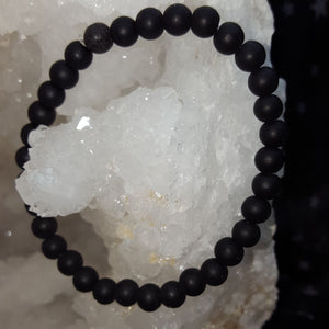 Bracelet Lava Stone 6 mm Bead | Carpe Diem with Remi