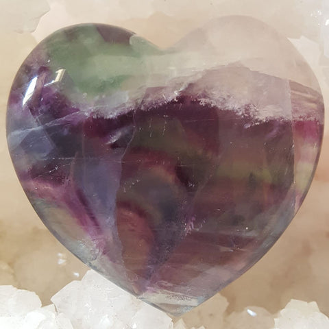 Heart Puff Rainbow Fluorite
