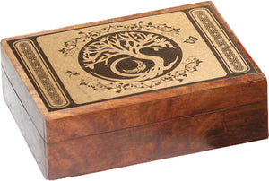 Tree Of Life Carved Wooden Box | Carpe Diem with Remi