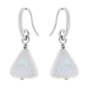 Earring Silver Triangular Pearl | Carpe Diem With Remi