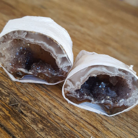 Agate Friendship Cave | Pair Natural | Carpe Diem with Remi