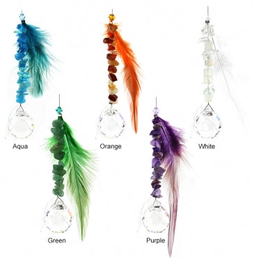 Suncatcher Feather and Crystals | Carpe Diem with Remi