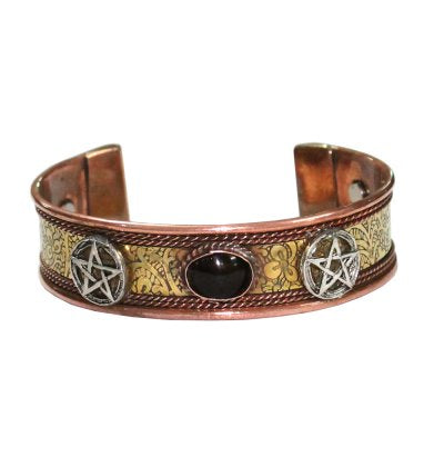 Bracelet Copper Pentagram - Carpe Diem With Remi