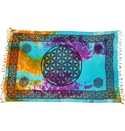 Cloth Flower of Life Tie Dye - Carpe Diem With Remi