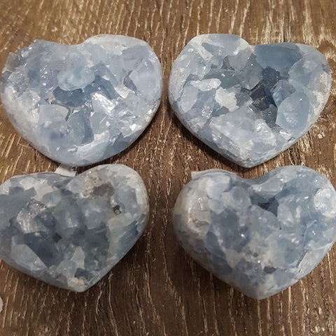 Celestite Heart Cluster | Carpe Diem with Remi