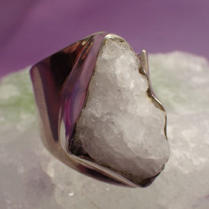 Ring Azeztulite Size 7 Adjustable  | Carpe Diem with Remi