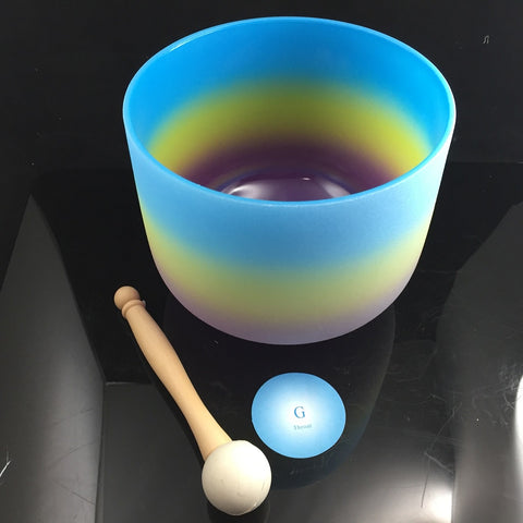 "Crystal Singing Bowl Throat G Rainbow 8"" 432hz - Carpe Diem With Remi"