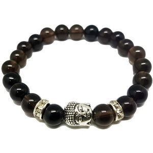 Bracelet Buddha Smokey Quartz | Carpe Diem With Remi