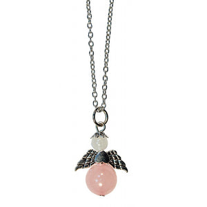Necklace Rose Quartz Angel | Carpe Diem With Remi