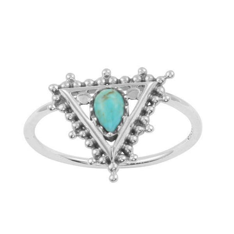Ring | Turquoise | Pyramid | Carpe Diem with Remi