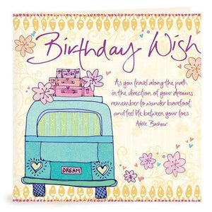 Birthday Wish Combi Birthday Card | Carpe Diem With Remi
