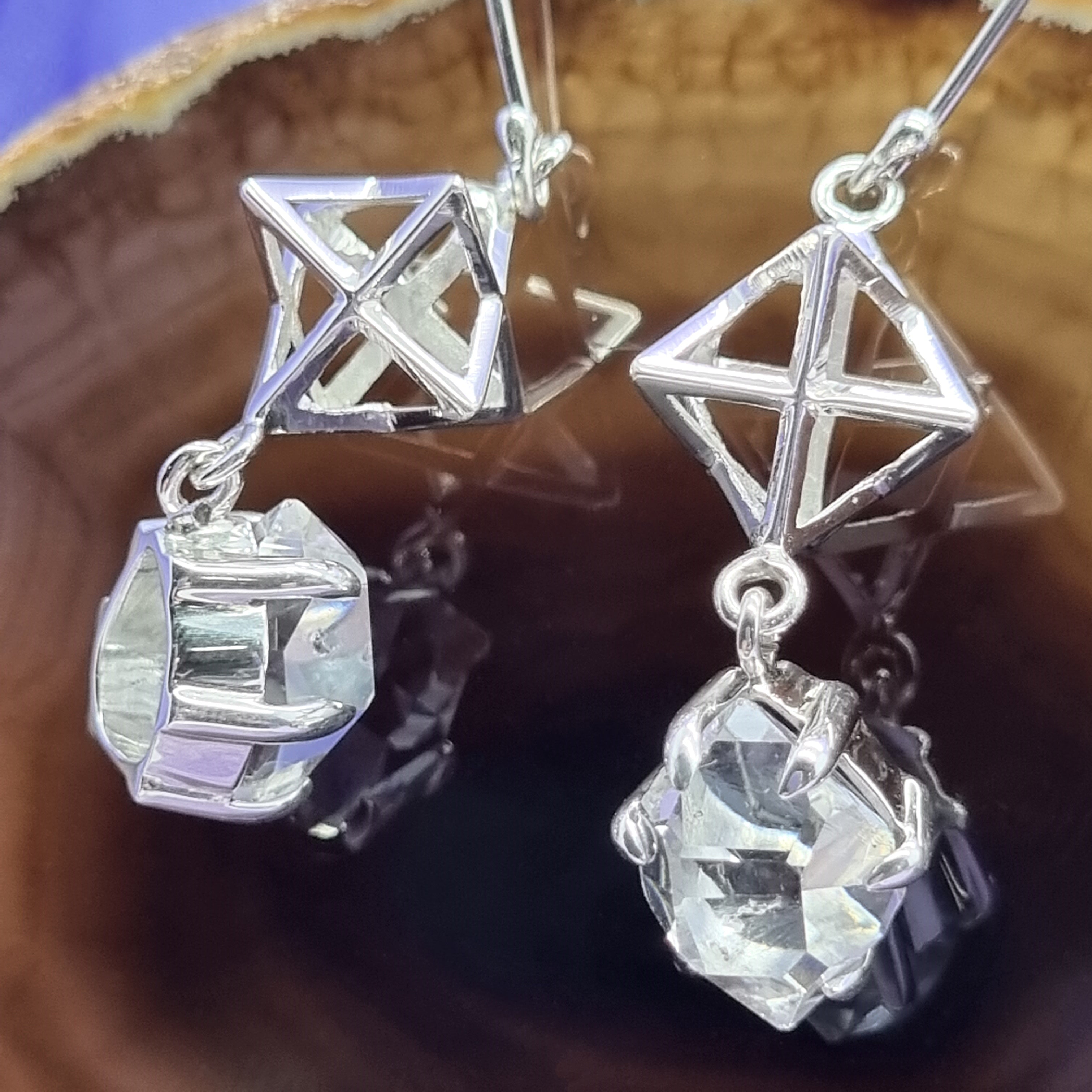 Earring Herkimer Diamond | Carpe Diem With Remi