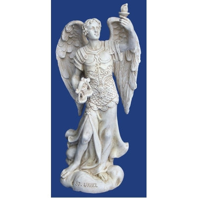 Archangel Uriel Statue Mini - the Keeper of the Light - Carpe Diem With Remi