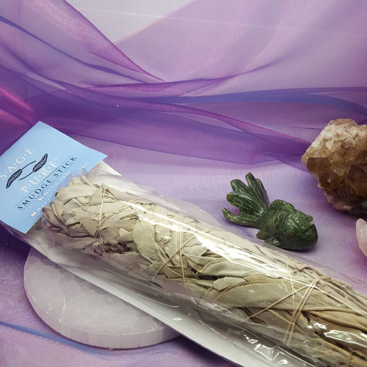 White Sage Smudge Stick Large 22 cm USA Pure  | Carpe Diem with Remi