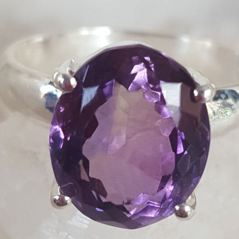 Ring | Amethyst | Facet | Size 8.5 | Carpe Diem with Remi