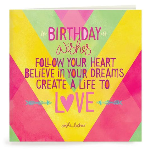 Follow Your Heart Birthday Card | Carpe Diem With Remi