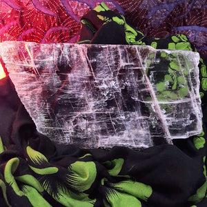 Selenite Slice on Stand | Carpe Diem with Remi