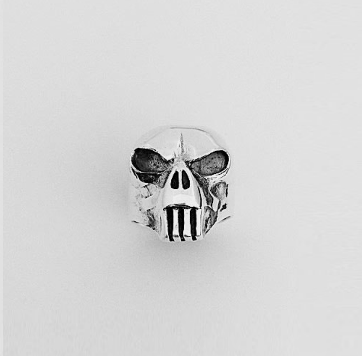 Ring Mens Large Silver Skull | Carpe Diem With Remi
