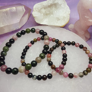 Bracelet Watermelon Tourmaline Beads | Carpe Diem with Remi