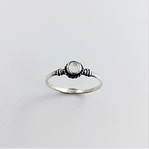 Ring White Circle Platted | Carpe Diem With Remi
