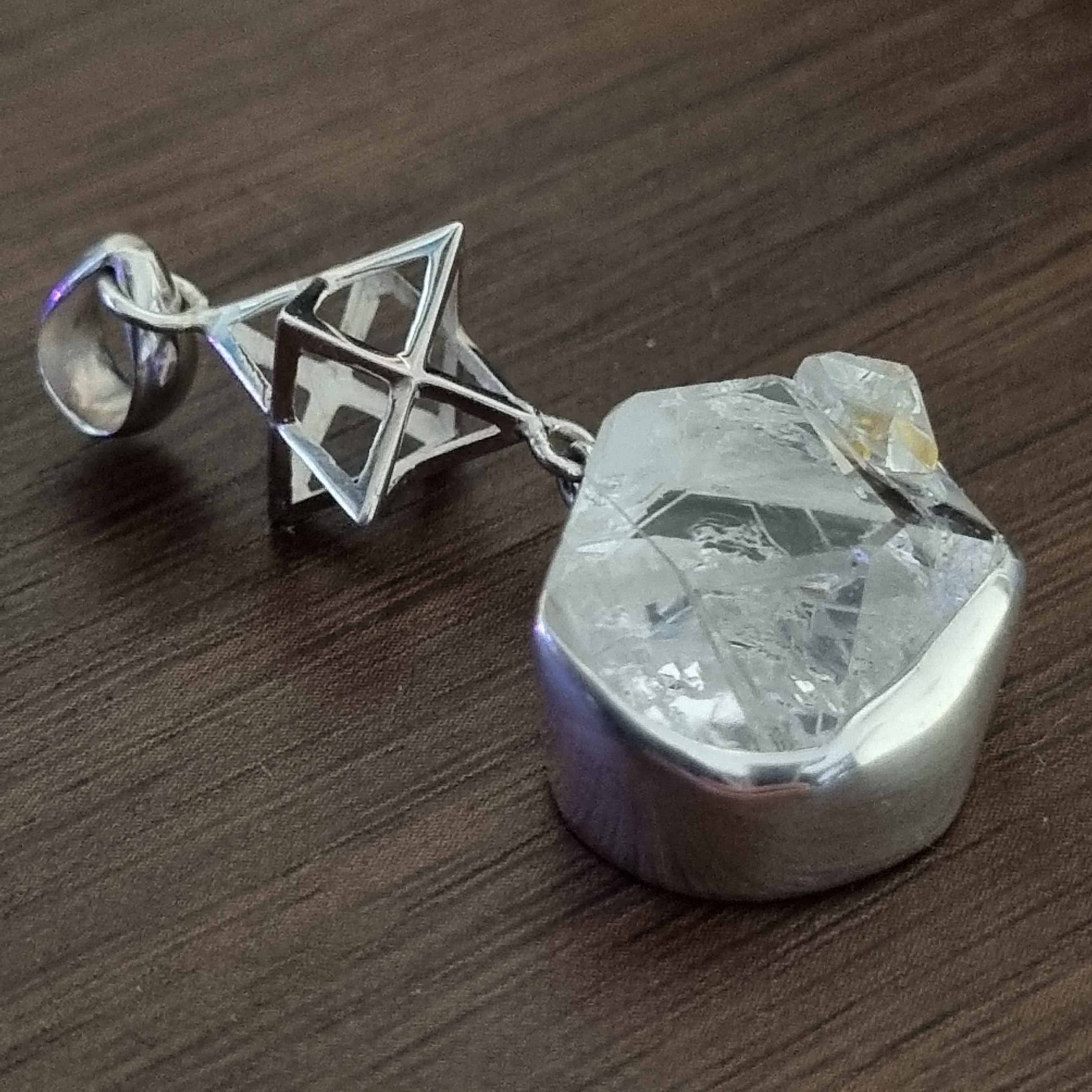 Pendant Herkimer Diamond with Merkaba | Carpe Diem With Remi