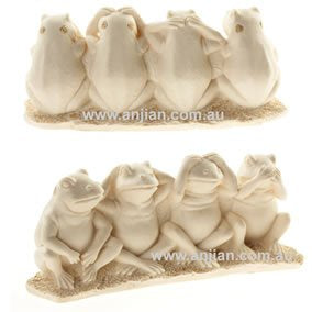 4 Frogs Statue Right Behaviour | 6 cm | Carpe Diem with Remi