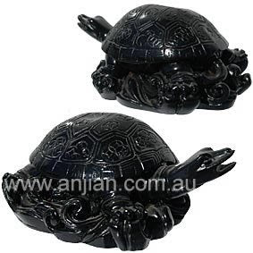 Turtle Statue Black | 4.5 cm | Carpe Diem with Remi