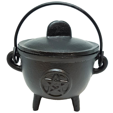 Cauldron | Pentacle | 13 cm  | Cast Iron  | Carpe Diem with Remi
