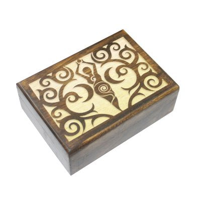 Box Goddess Spiral Wood | Carpe Diem with Remi
