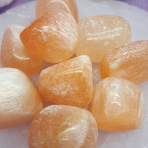 Selenite Peach Tumbled | Carpe Diem with Remi