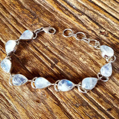 Bracelet | Rainbow Moonstone | on | Silver | Carpe Diem with Remi
