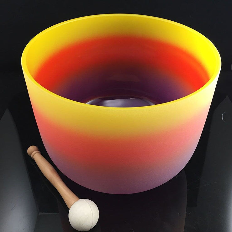 Crystal Singing Bowl 10 Inch Chakra Rainbow E Solar Plexus - Carpe Diem With Remi
