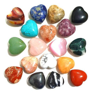 Gemstone Hearts 3 cm Variants