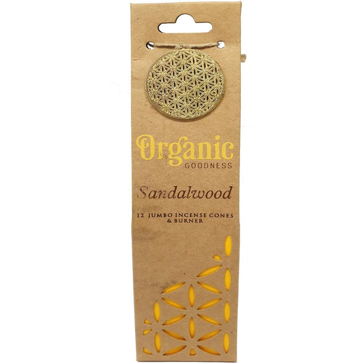 Organic Goodness Incense Cones | Sandalwood  | Carpe Diem With Remi