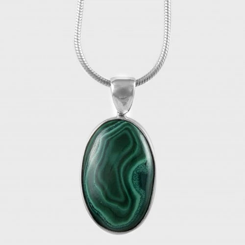Pendant Malachite Oval