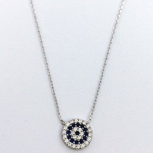 Necklace Evil Eye on Silver | Carpe Diem With Remi