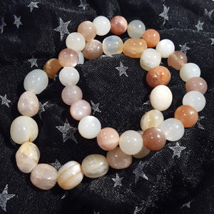 Bracelet | Moonstone | Peach and Cream | Carpe Diem with Remi