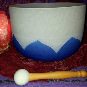 "Crystal Singing Bowl Lotus Throat G 10"" 432hz 