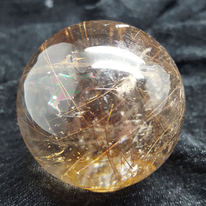 Sphere Red Rutilated Quartz Rare | Carpe Diem with Remi