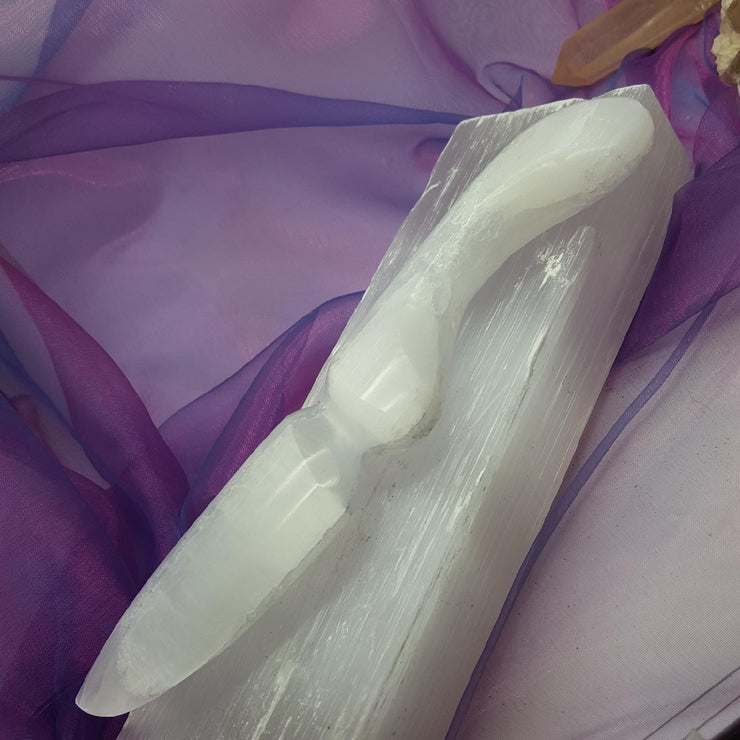 Selenite Athame | Carpe Diem with Remi