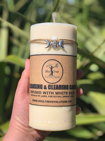 Cleansing and Clearing Candle XL | Carpe Diem with Remi