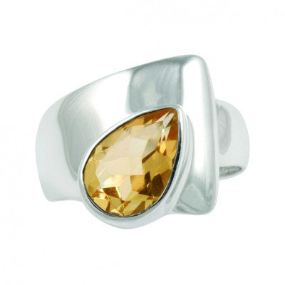 Ring Citrine Teardrop Silver 9 | Carpe Diem with Remi