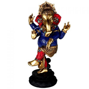 Ganesh | Standing | Blue Red Gold | Carpe Diem with Remi