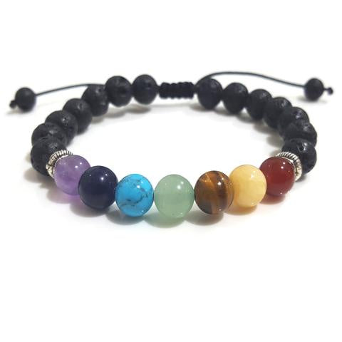 Bracelet | Chakra | Lava | Adjustable | Carpe Diem with Remi