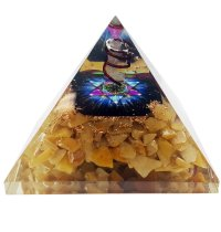 Abundance  Orgonite Pyramid | Carpe Diem with Remi