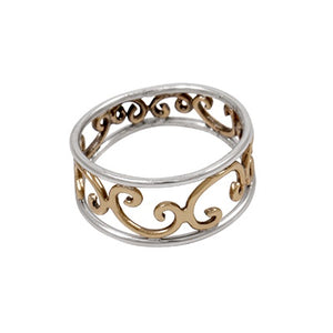 Ring Silver and Bronze Pattern | Carpe Diem WIth Remi