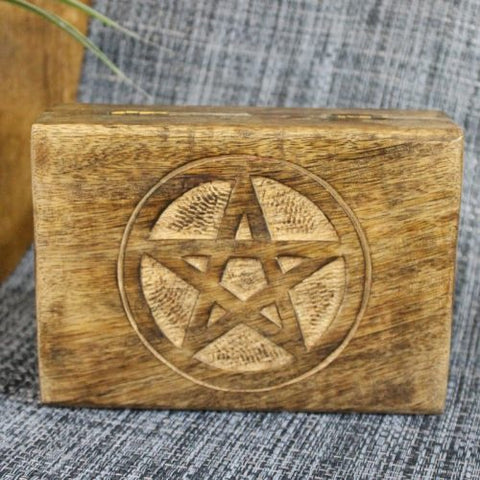 Box | Pentagram | Mango Wood | Carpe Diem with Remi