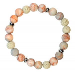 Bracelet Coral with Lava Beads | Carpe Diem With Remi