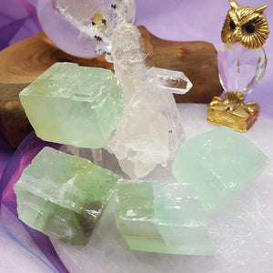 Calcite Green Rhomboid | Carpe Diem With Remi